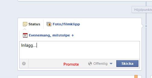kommersiell Facebook