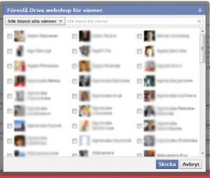 dina vänner på Facebook