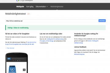 Google mobilvänlig