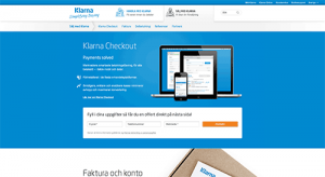 Klarnas webbplats