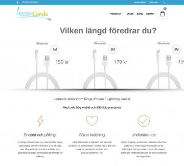 Happycords webbplats