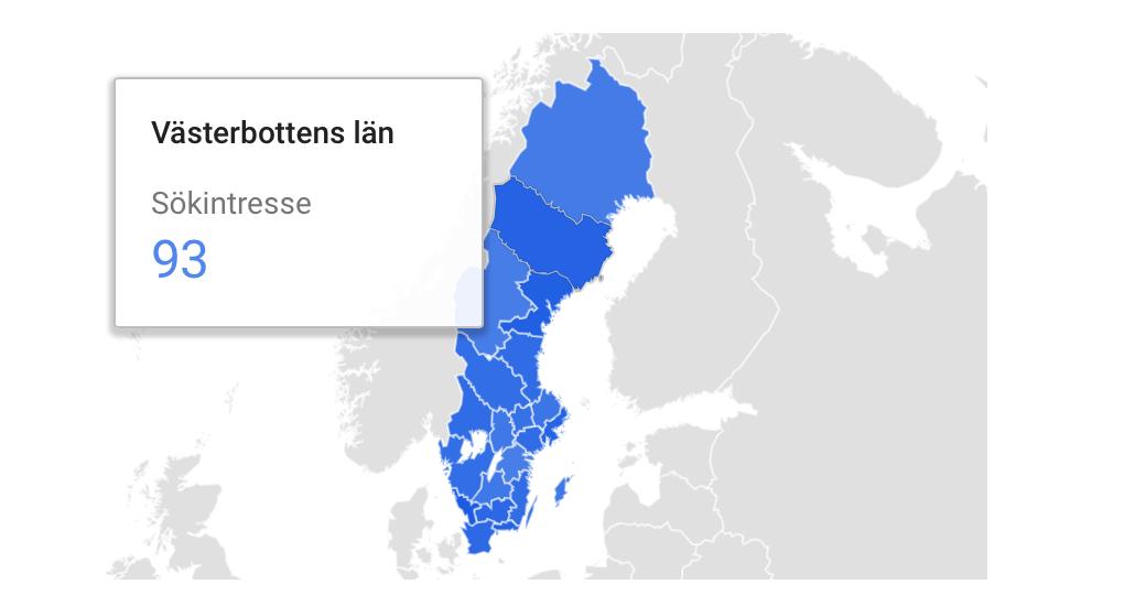 Västerbottens län har hög efterfrågan av hudvård